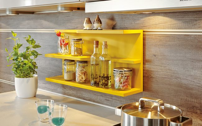 Hanging Shelf (28 Colours) - Schuller Kitchens Cardiff