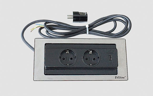 Schuller Kitchen Cardiff - Worktop Socket Outlet with USB