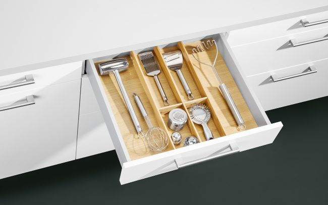 Schuller German Kitchens Cardiff - Insert for Utensils - Natural Oak