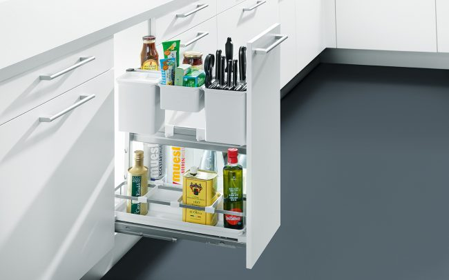 Schuller German Kitchens - Storage Solutions - Pull Out Storage - pull out base unit