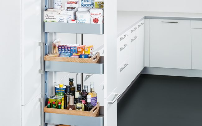 Schuller German Kitchens - Storage Solutions - Pull Out Storage - pull out larder unit