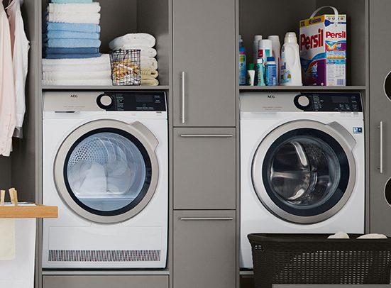 german kitchens cardiff - utility rooms - raised laundry units