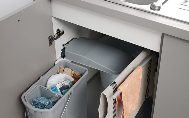 german kitchens cardiff - utility rooms - bin unit under sink