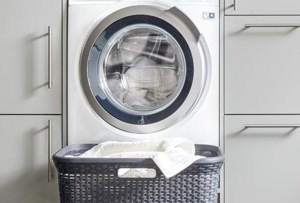 German Kitchens Cardiff - utility - laundry basket drawer