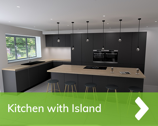 German Kitchen with Island Cardiff