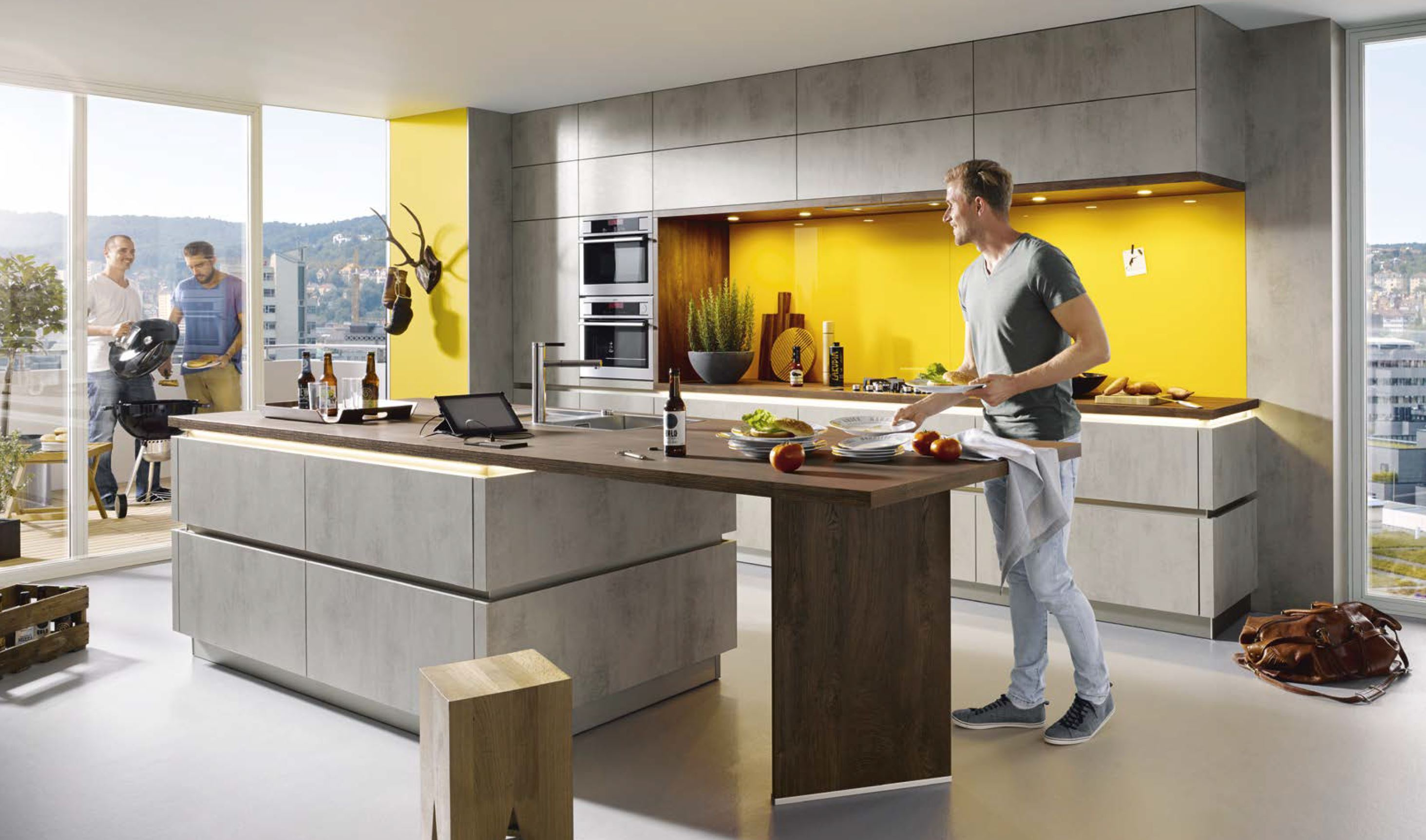grey kitchens by schuller
