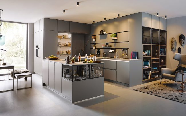 Schüller Sienna Satin Kitchen - Handleless Design