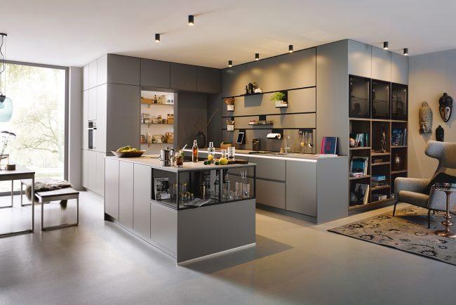 Schüller Sienna Satin Kitchen - Handleless Design