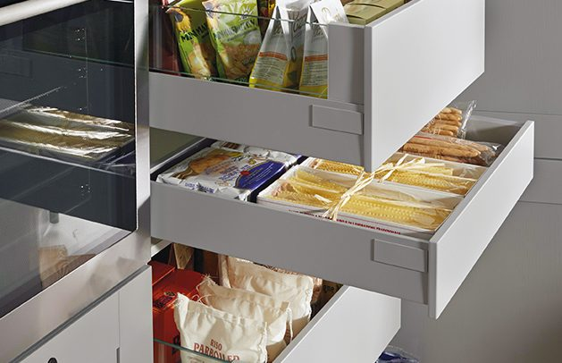 Schuller German Kitchens - Storage Solutions - Pull Out Storage - pull out internal drawers