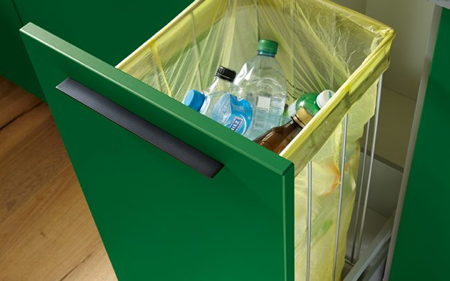 Schuller German Kitchens - Storage Solutions - Pull Out Storage - pull out recycling bin