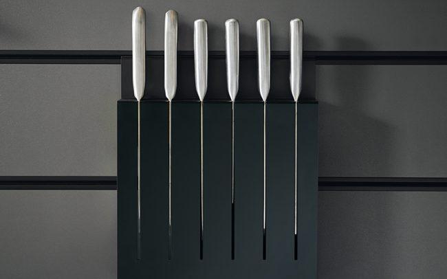Onyx Black Knife Rack - Schuller Kitchens Cardiff - Schuller Kitchens Cardiff