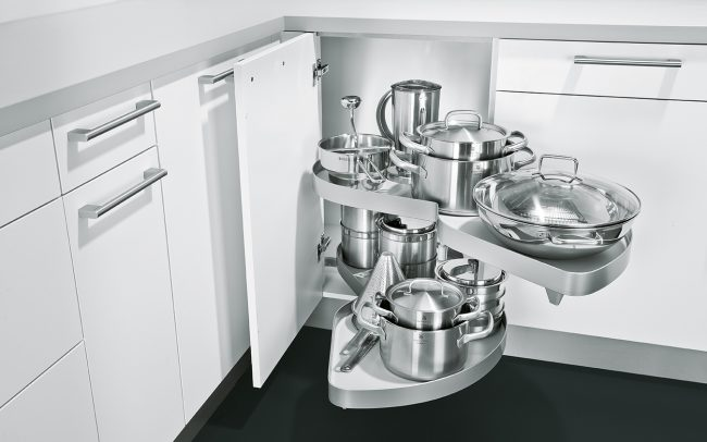 Schuller German Kitchens - Storage Solutions - Pull Out Storage - pull out le-man corner unit 2