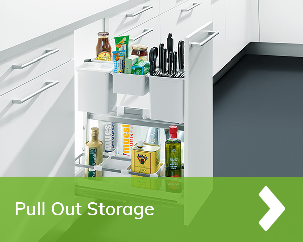 German Kitchens Cardiff - pull out storage
