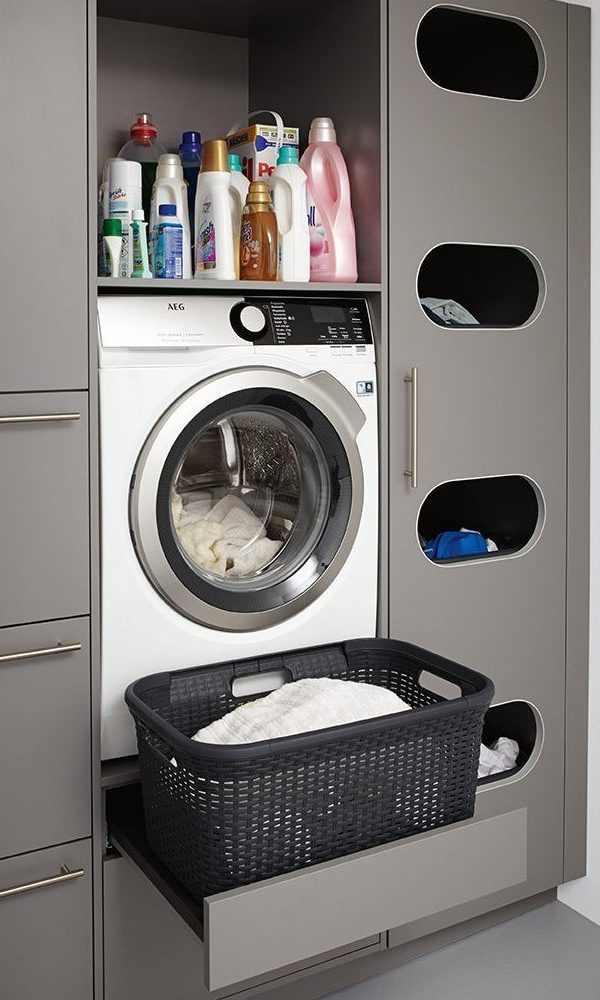 german kitchens cardiff - utility rooms - raised washer unit