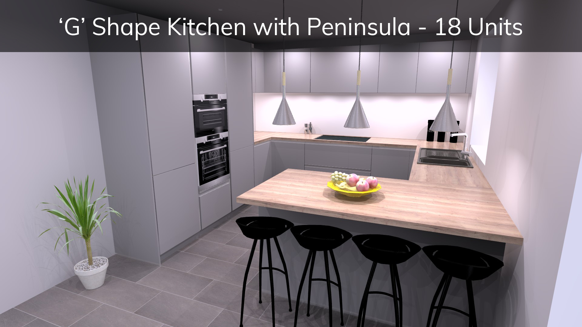 G shape kitchen with peninsula breakfast bar - german kitchen price guide - how much does a schuller kitchen cost