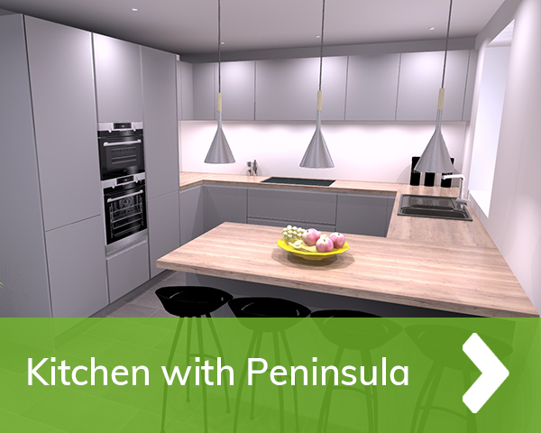 German Kitchen with Peninsula Cardiff
