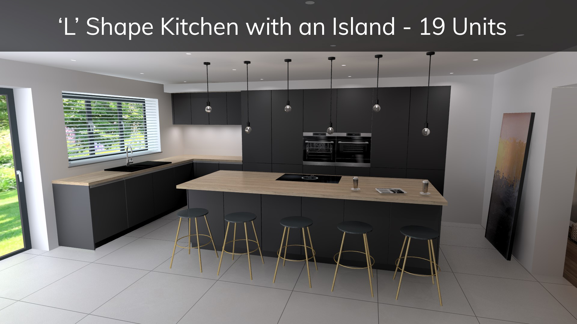 L shape kitchen with island - how much does a schuller kitchen cost